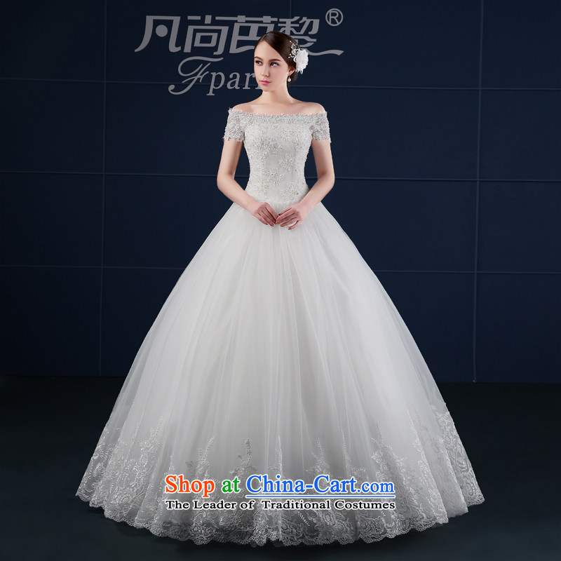 Where Is Barbara Lai wedding dresses 2015 new spring and summer Korea version of large numbers to align the Sau San bride wedding, shoulder White M field
