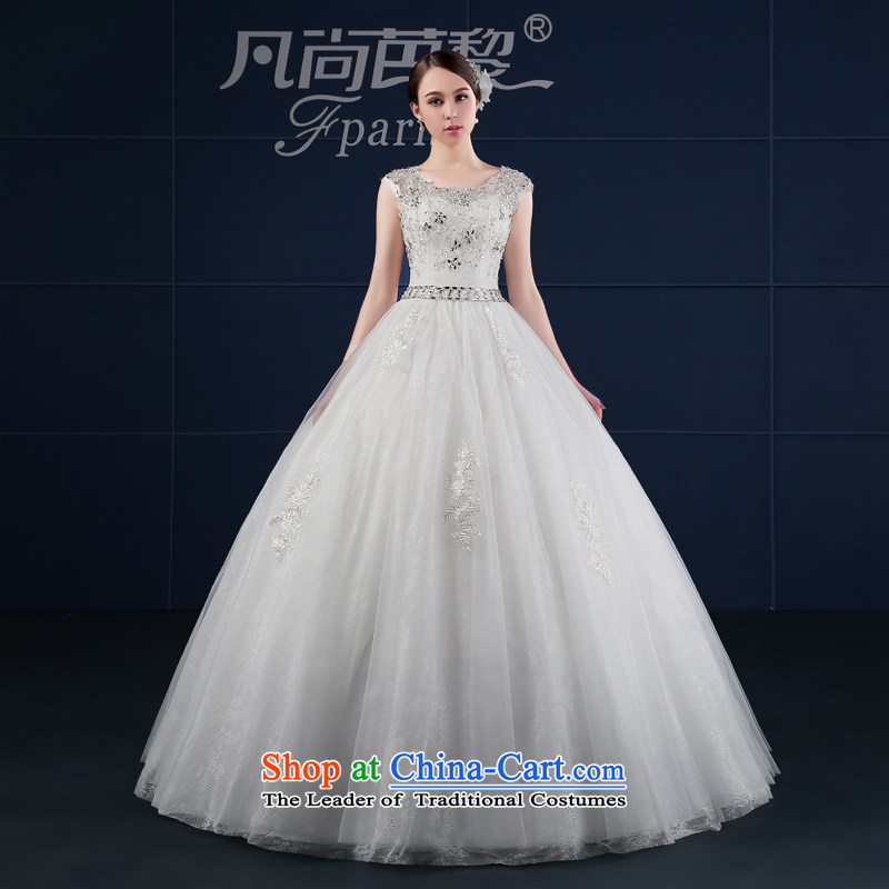 Where Is Barbara Lai wedding dresses 2015 new spring and summer Korean large dual shoulder bride wedding summer word Shoulder Drill White?XXL
