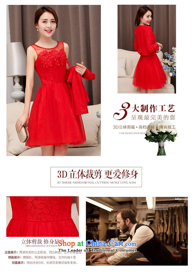 Uyuk wedding dresses bridesmaid dress 2015 new red dress lace uyuk wedding dresses bridesmaid dress 2015 new red dress lace short of marriages bows serving two ombrellifo Gallery