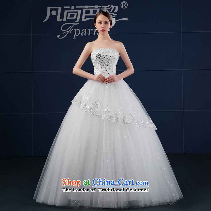 Where Is Barbara Lai wedding dresses 2015 new spring and summer Korean large drill chest to Sau San anointed bride wedding summer White聽XL