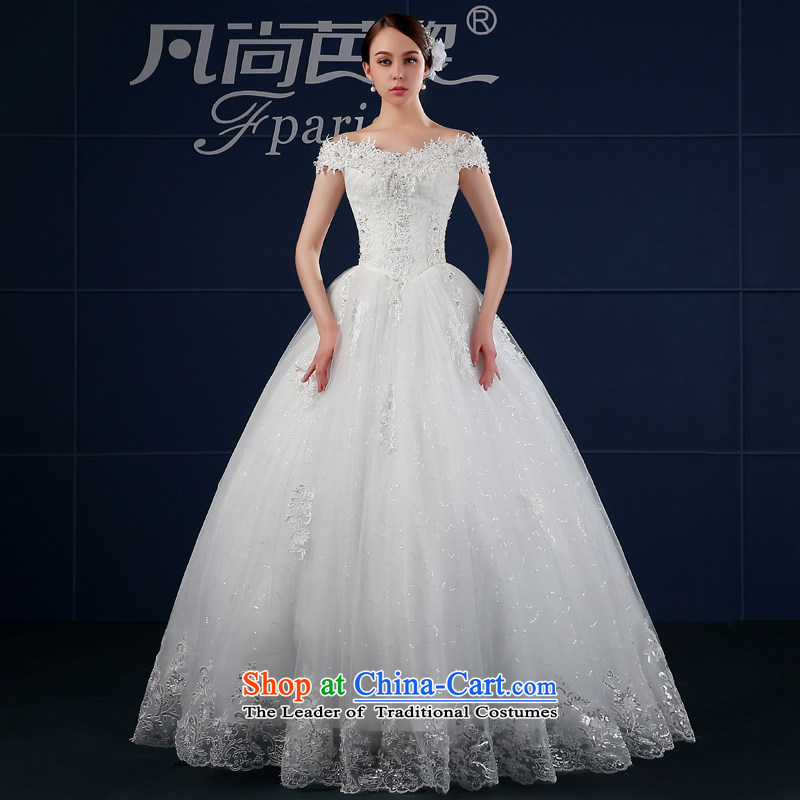 Where Is Barbara Lai Wedding 2015 new spring and summer Korean version of large numbers to align the shoulder package the word shoulder shoulder bride wedding summer White聽XXL
