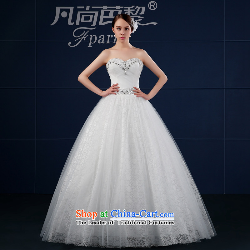 Wedding dress 2015 new spring and summer Korean large Drill Simple Sau San anointed chest of the funds from the bride wedding summer White?XL