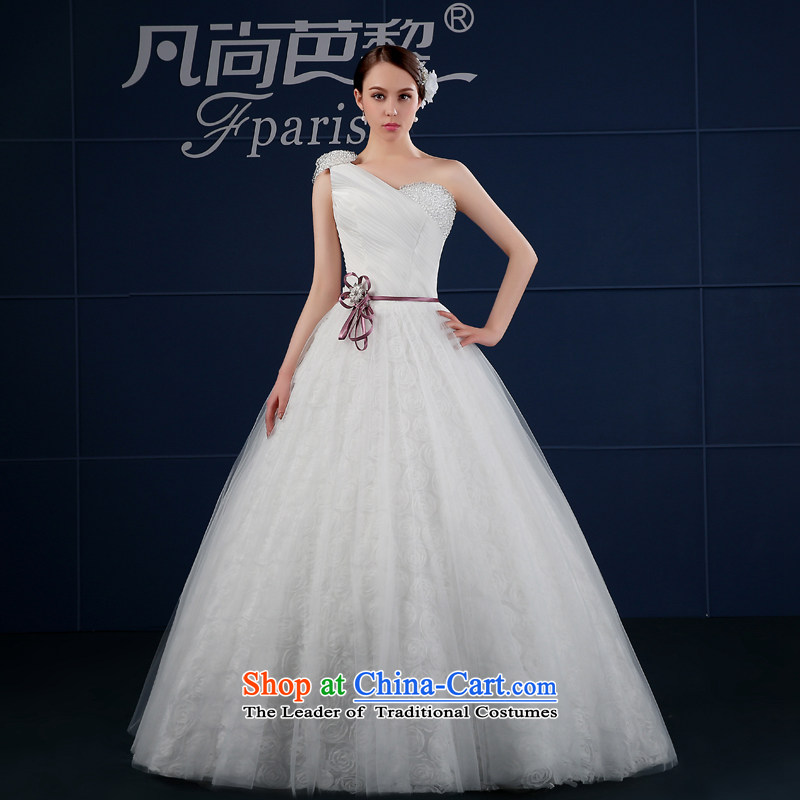 Where Is Barbara Lai Wedding 2015 new Korean version of large code simple drill Sau San white customization shoulder bride wedding summer White?M