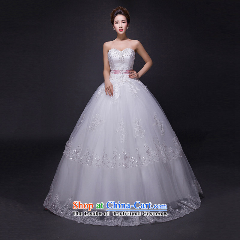 Hei Kaki wedding dresses 2015 new autumn and winter noble sexy anointed chest lace bon bon petticoats align to bind with wedding JX16 ivory S