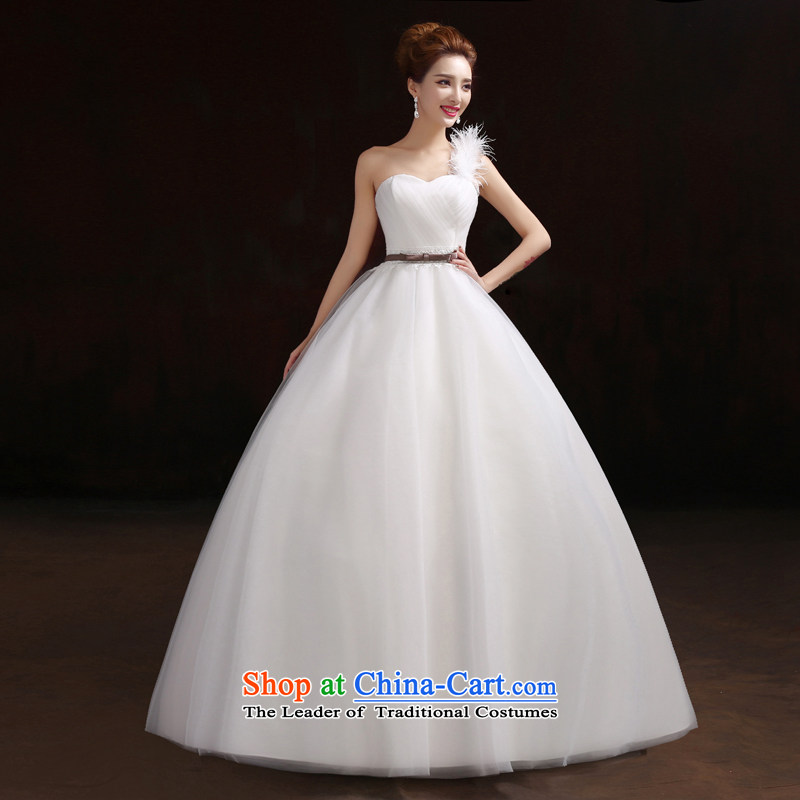 Pure Love bamboo yarn 2015 new bride wedding dresses qipao snow white wedding fashion bridal western form factor, neat and poised wedding photography�XXXL White