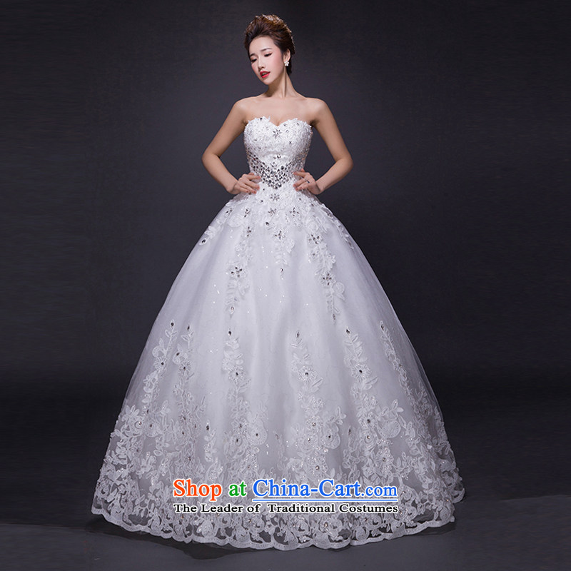 Hei Kaki wedding dresses聽2015 new autumn and winter noble sexy anointed chest lace bon bon petticoats align to bind with wedding JX17 ivory聽S