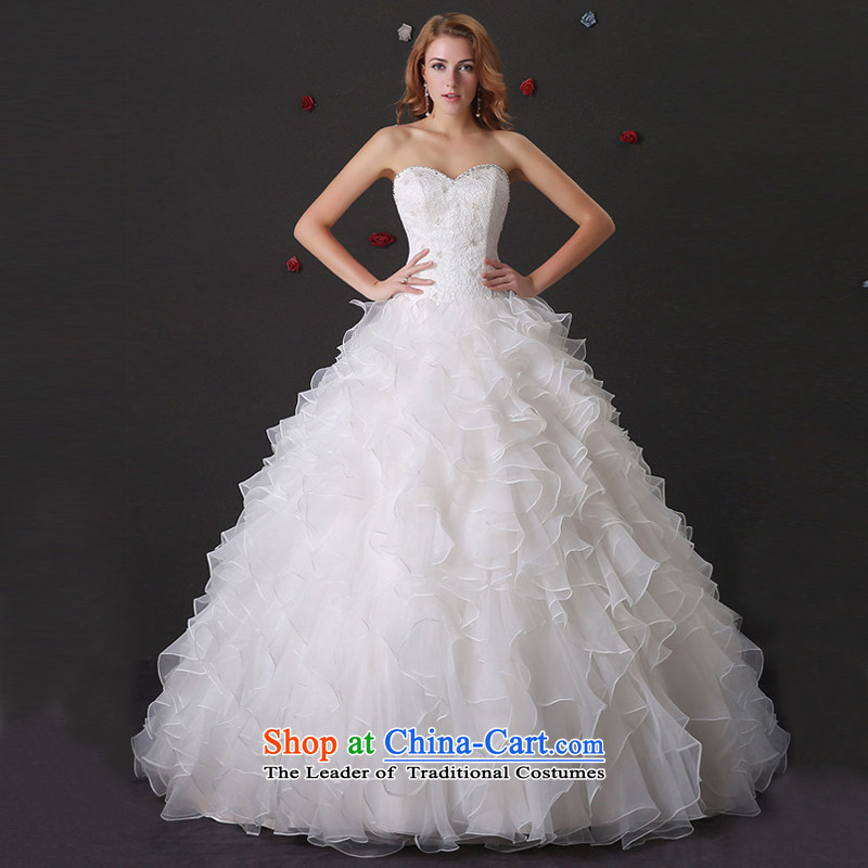 Custom Wedding 2015 dressilyme wedding dresses spring and summer new bride anointed chest Princess Sau San Niba bon bon skirt align to bind with the white spot - no?XXSTOXL_