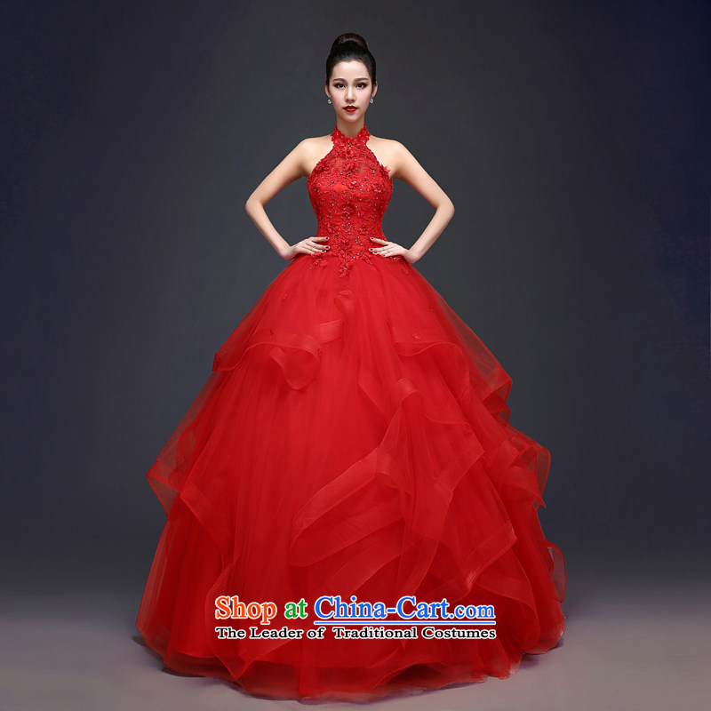 Each original Connie red wedding dresses�spring 2015 Korean sexy sleeveless hang also marriages video thin princess bon bon skirt summer hunsha female red tailored does not allow for seven days of