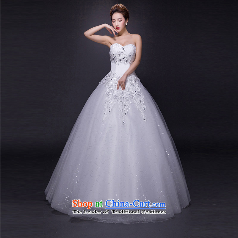 Hei Kaki wedding dresses?2015 new autumn and winter noble retro collar lace bon bon petticoats align to bind with wedding JX20 ivory?L