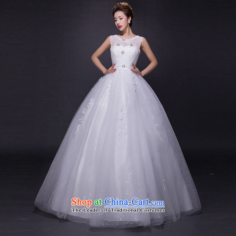 Hei Kaki wedding dresses 2015 new autumn and winter noble retro collar lace bon bon petticoats align to bind with wedding JX21 ivory XS