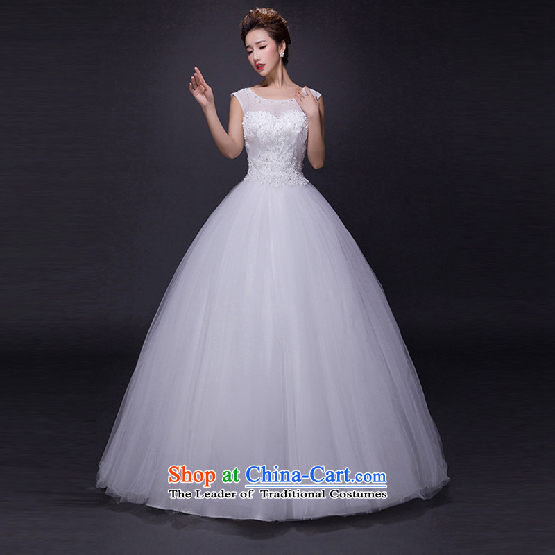 Hei Kaki wedding dresses?2015 new autumn and winter noble retro collar lace bon bon petticoats align to bind with wedding JX22 ivory?XS
