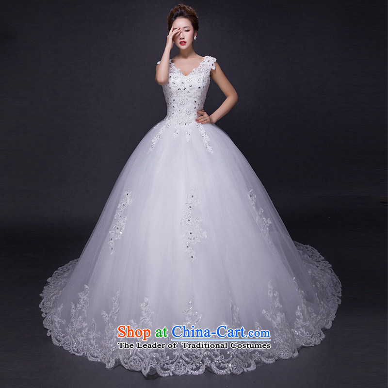 Hei Kaki wedding dresses?2015 new autumn and winter noble retro collar lace bon bon petticoats align to bind with wedding JX23 ivory?XXL