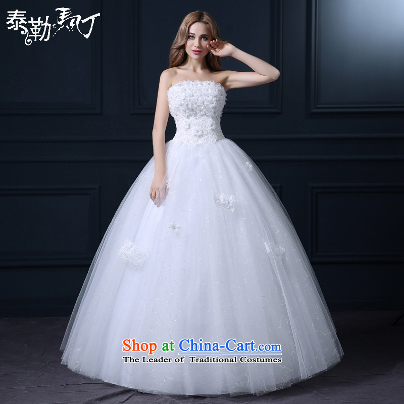 Martin Taylor New Word 2015 shoulder wedding spring and summer Korean fashion lace marriage wedding chest to wipe the bride wedding white _buy gift of three kit_ M