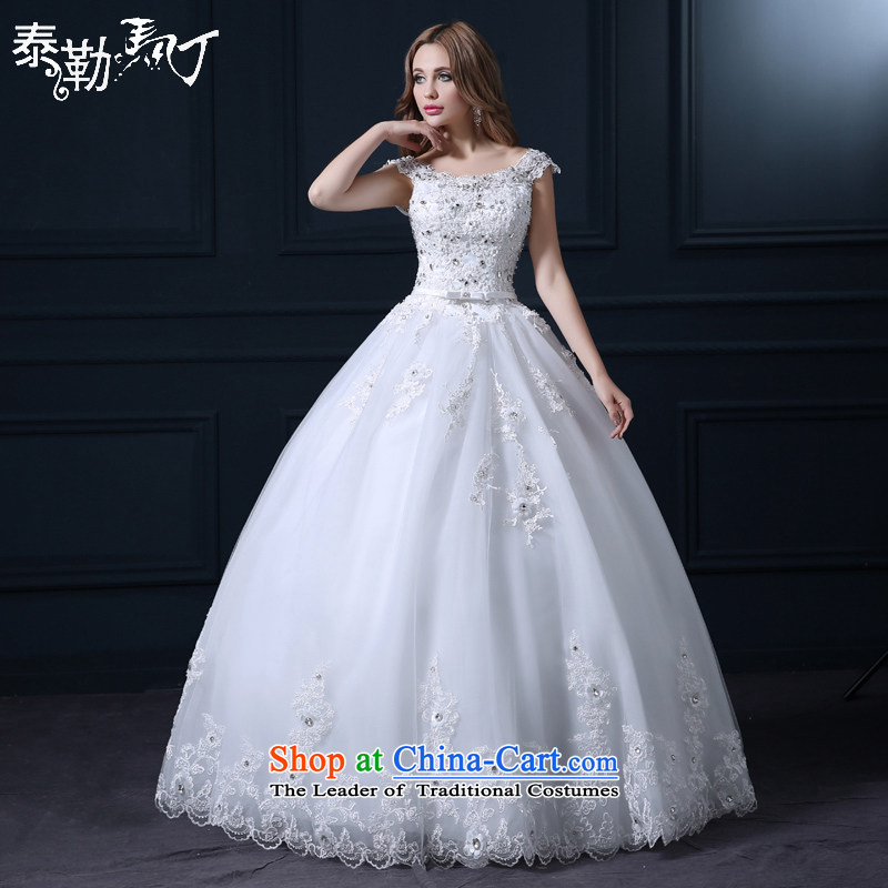 Taylor Martin 2015 Spring/Summer wedding dresses Korean fashion lace straps to align the white marriage wedding bride wedding wedding dress white (buy gift of three kit) XL