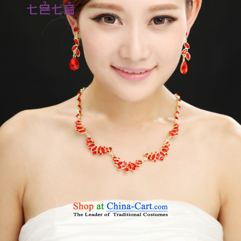 7 7 color tone?new stylish 2015 Korean style with fine hairpiece petals luxury diamond wedding wedding accessories?PS006?necklace ear will Fall Arrest