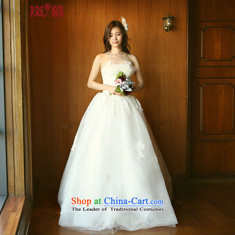 The sponsors of the original design of 2015 vera wang wei wang wei-style wrapped chest bon bon skirt wedding ivory XL( chest 95/ waist79)