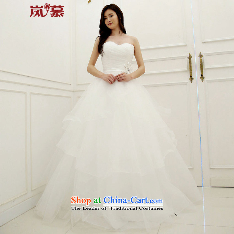 The sponsors of the original design of 2015 conservative removable small jacket wedding internal bon bon skirt bride wedding pure white�L 90 / 74) waist chest