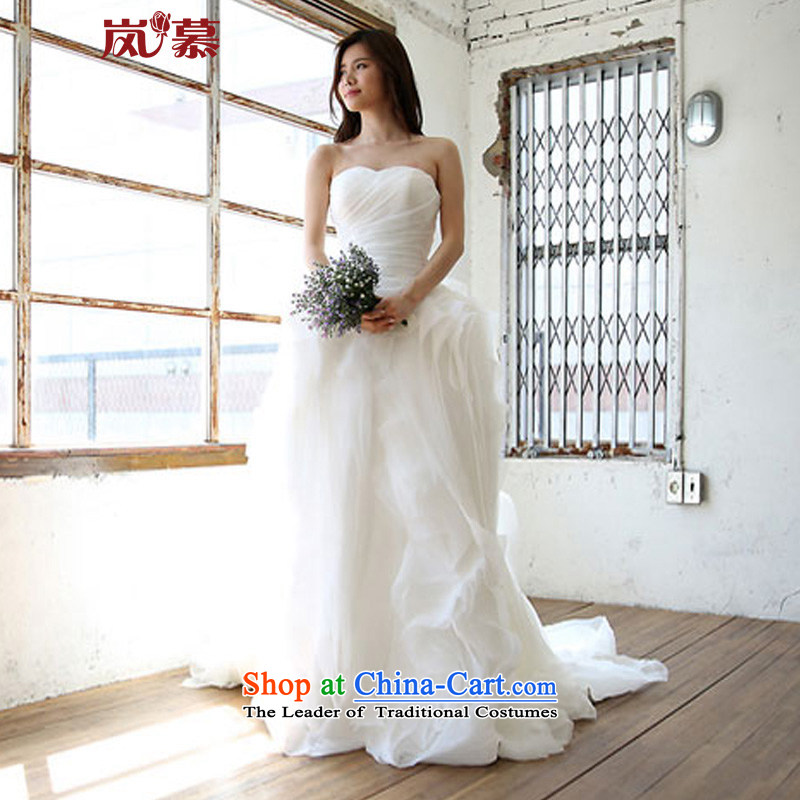 The sponsors of the�2015 New Wang weiwei design, decorated in minimalist style with breast-Super Multi Chip bride wedding�XL( pure white breast 95/ waist79)