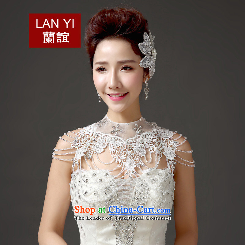 In?2015, Friends bride wedding dresses accessories shawl hand-beaded shoulder link Korean water drilling new summer, white-haired quality assurance will?seriously - 120 catties 80 May Pass Through