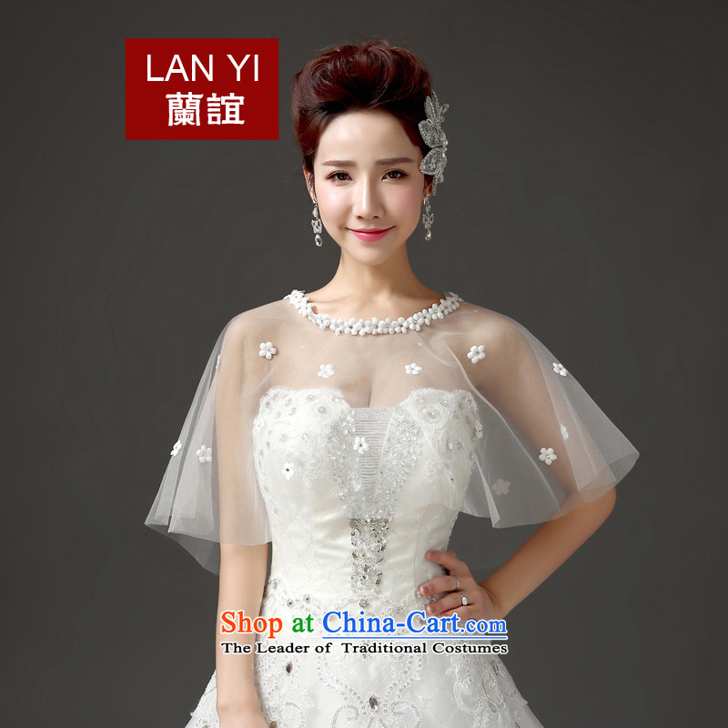Estimated?2015 friends marriages wedding dresses accessories shawl Korean lace flower graphics thin sunscreen shawl marriages shawl white are code is better thin wearing thick