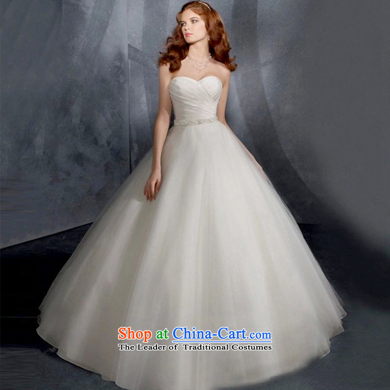 2015 new wedding dresses marriages Korean simple, classy and stylish white video thin trailing white wedding can be made plus $30 Does Not Return