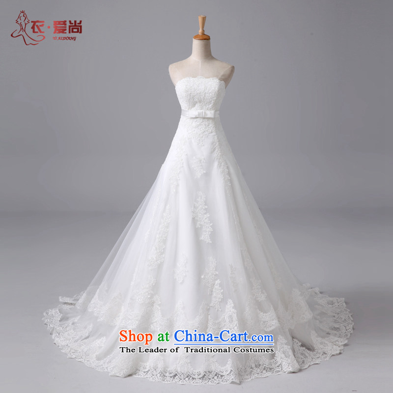 2015 new anointed chest lace continental retro palace wedding noble married women crowsfoot wedding Trailing White�XL