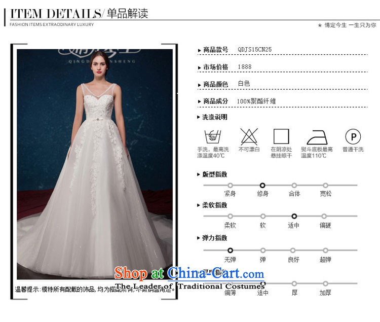 Love of the overcharged by 2015 Summer new minimalist white V-Neck Lace up large waist tail wedding wedding dress white tailor-made exclusively any pictures, prices, brand platters! The elections are supplied in the national character of distribution, so action, buy now enjoy more preferential! As soon as possible.