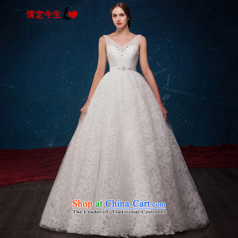 Love of the overcharged by 2015 Summer new diamond minimalist V-NECK TOP loin graphics large thin wedding?A bon bon apron skirt wedding dress white?XS