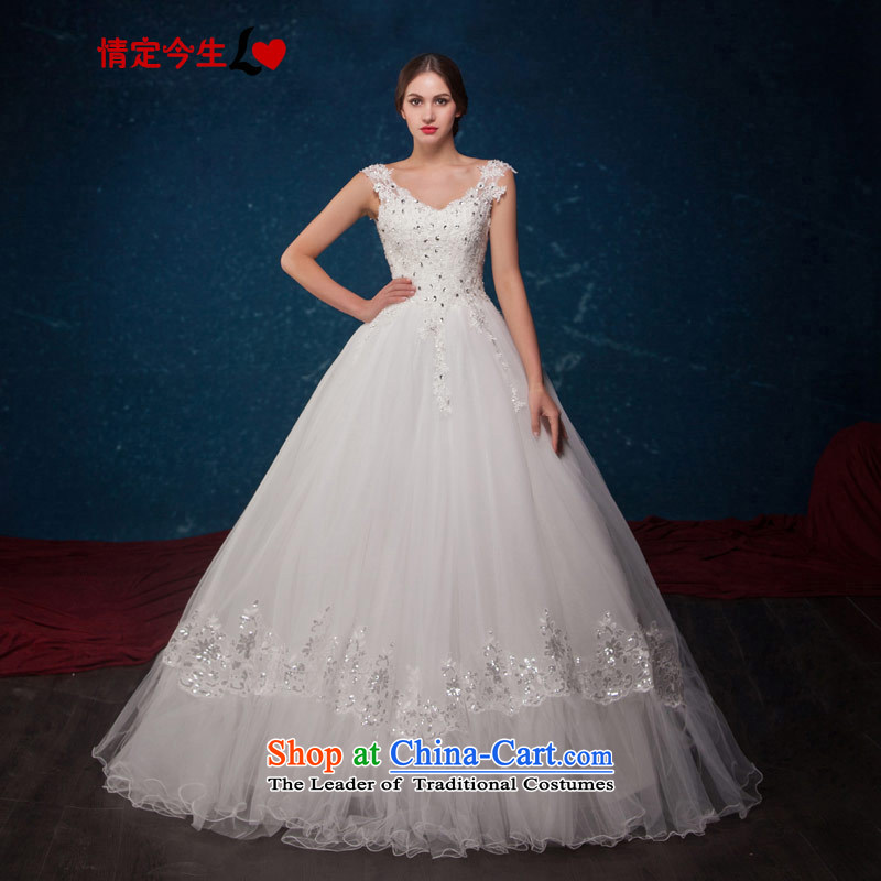 Love of the overcharged by 2015 Summer new word lace shoulder diamond sexy video thin straps bon bon skirt princess wedding wedding dress white tailor-made exclusively concept