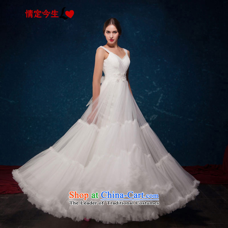 Love of the life of the new Europe and the 2015 Summer simple word fairies shoulder a romantic wedding dress bon bon upscale wedding dress white tailor-made exclusively concept