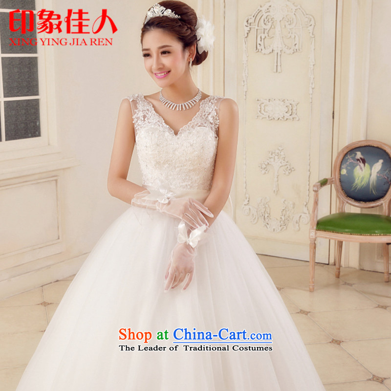 Starring impression wedding dresses new 2015 stylish shoulders bon bon skirt drill larger wedding to align graphics thin lace H1501 Mr Ronald L