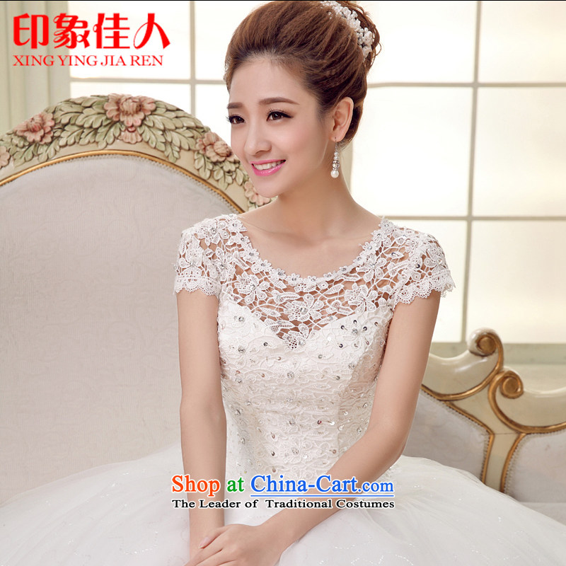 The bride wedding dresses 2015 Spring/Summer new lace alignment to the word wedding shoulder Korea version of large numbers of Sau San video thin H1505 S