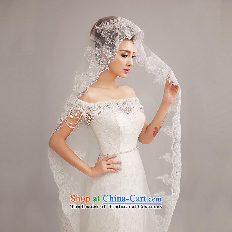 Yi love still wedding dresses Summer 2015 new stylish lace a field shoulder crowsfoot wedding tail Korean word for Sau San video thin wedding white?L