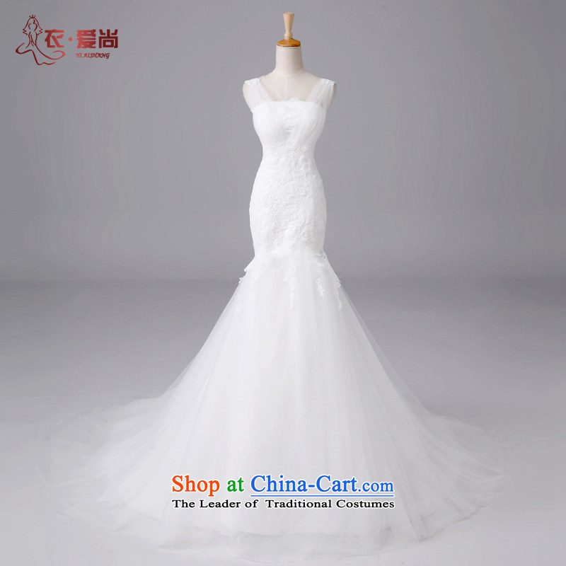 Yi Sang-?2015 summer love New wedding dress luxury lace straps and chest of wedding packages in shape and large crowsfoot tail shoulder straps, wedding ceremony can be made of white plus _30 Does Not Return