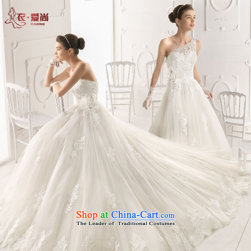 Yi love still wedding dresses Summer 2015 New Product bride wedding custom upscale shoulder marriage wedding dresses and sexy Korean long tail lace white marriage white聽L, Yi upscale love is , , , shopping on the Internet