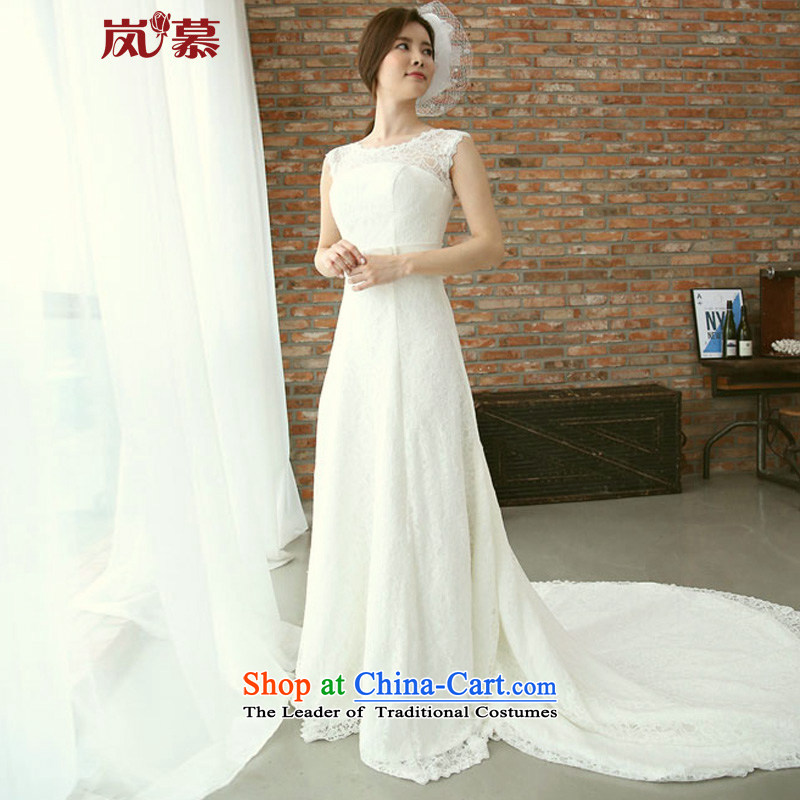 The sponsors of the�2015 original design of the new Korean conservative full lace Foutune of Sau San long tail bride wedding ivory�XL( chest 95/ waist79)