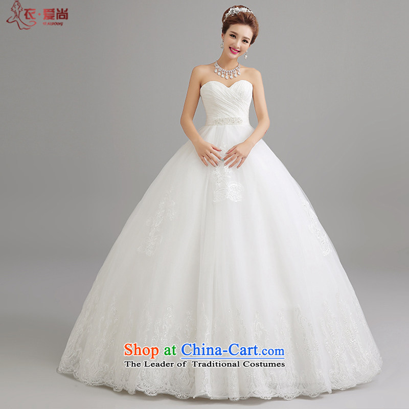 Yi love is mother pregnant women bride wedding Top Loin of Korean lace anointed chest to graphics thin Wedding 2015 Summer new wedding dresses female White聽XL