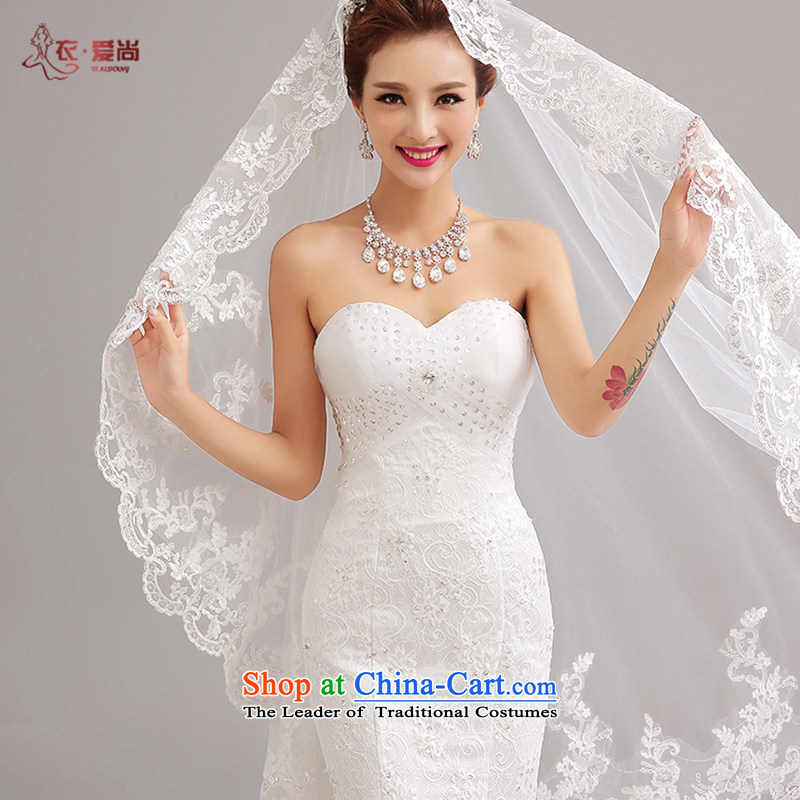 Yi Sang-?2015 summer love New wedding dresses and sexy lace anointed chest crowsfoot small trailing wedding fashion for larger marriages crowsfoot video thin female wedding white can be made plus $30 Does Not Return