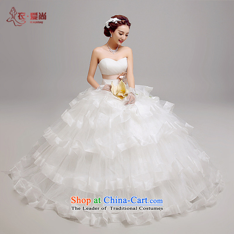 2015 new summer wedding dresses, western style high-end custom retro anointed chest straps to married women wedding Korean version of large numbers of pregnant women wedding female white can be made plus $30 Does Not Return