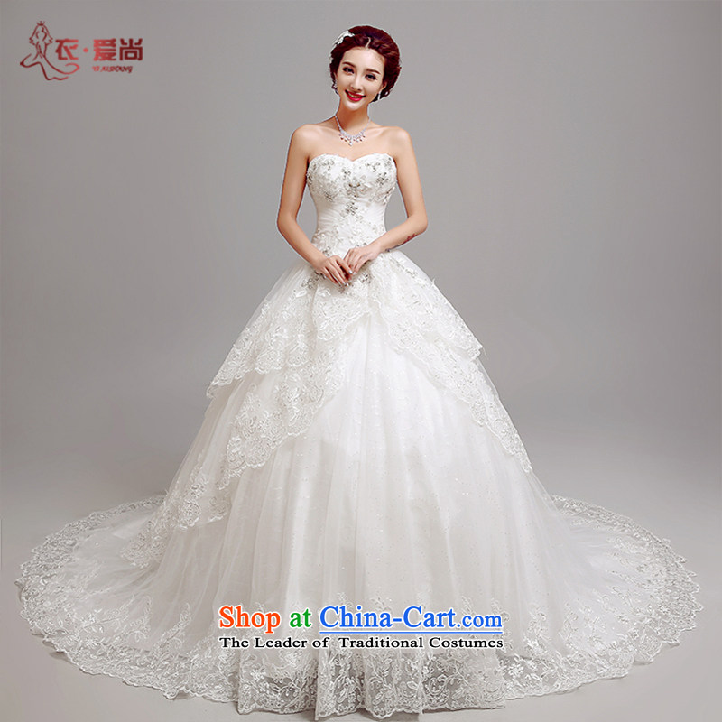 Yi love still wedding dresses Summer 2015 new custom long tail bride anointed chest Marriage Code Wedding on the drilling video thin luxury, lace pregnant women wedding white can be made plus $30 Does Not Return