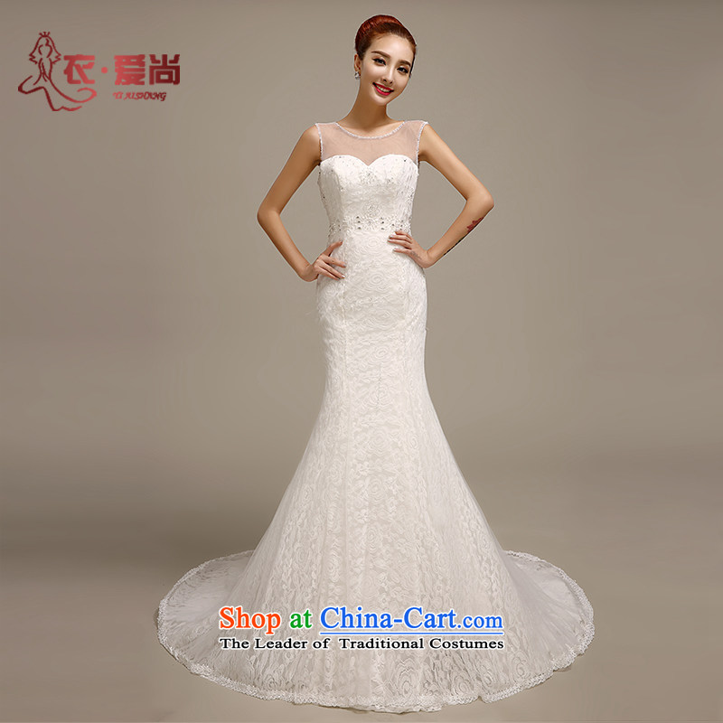 Summer 2015 new wedding dresses package and video thin crowsfoot lace stylish bride continental tail Sau San wedding white can be made plus _30 Does Not Return
