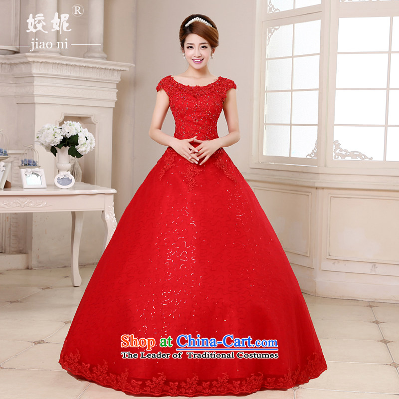 Each Connie red wedding dresses shoulders the spring and summer of 2015, the Korean word for the bridal bon bon skirt to align graphics thin women 0019 Red XL