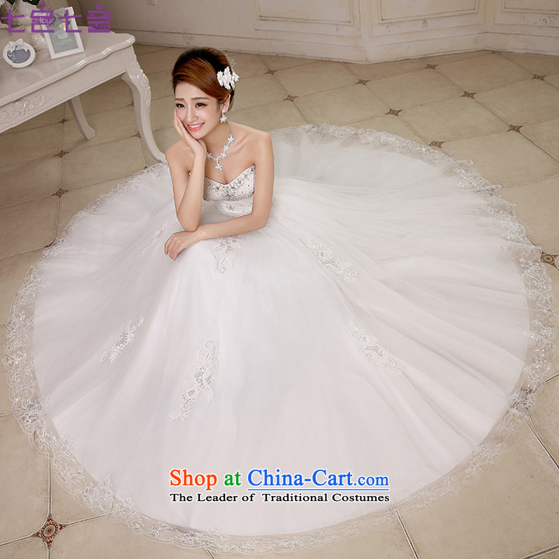 7 Color 7 tone Korean Modern graphics thin 2015 lace alignment with chest wedding wedding dresses?H074?white?L