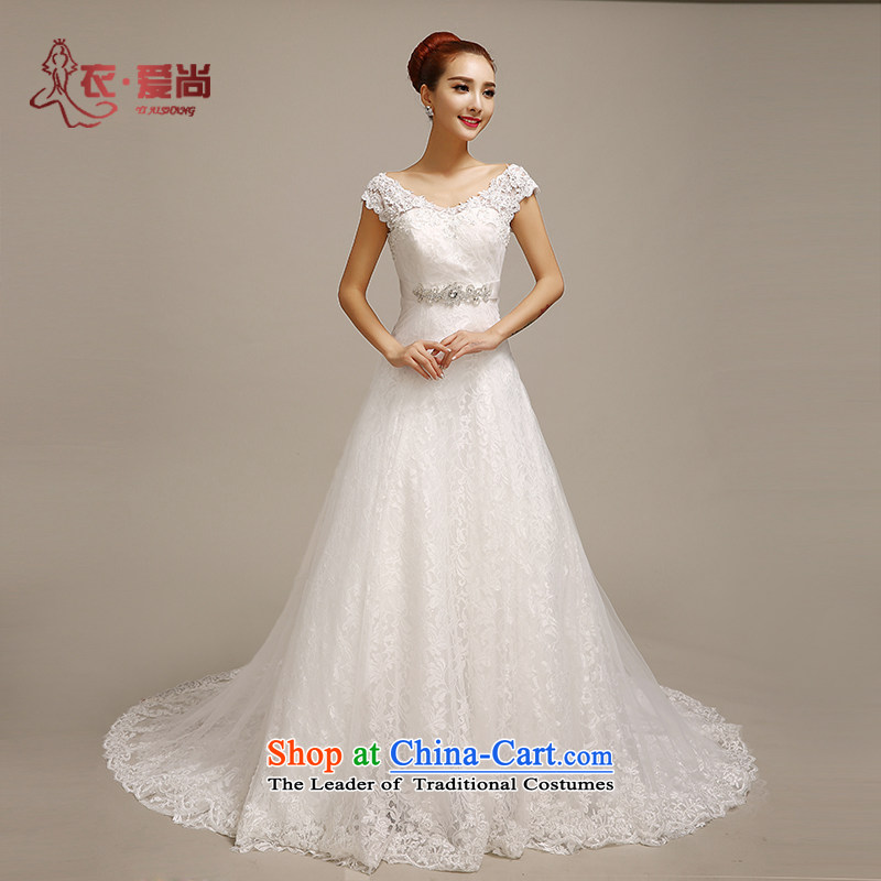 Yi love still summer wedding dresses, 2015 Korean Sau San video lace brides thin shoulders a skirt straps trailing white wedding can be made plus $30 Does Not Return