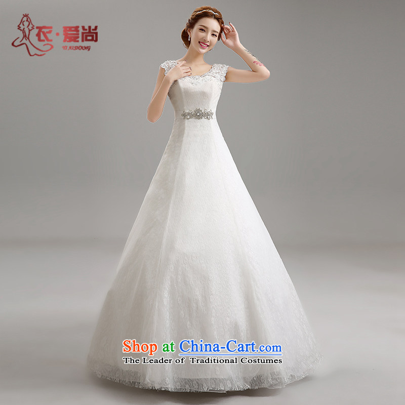 Yi Sang-2015 new love spring bride wedding dresses stylish shoulders to align the red marriage video thin lace wedding female white?L