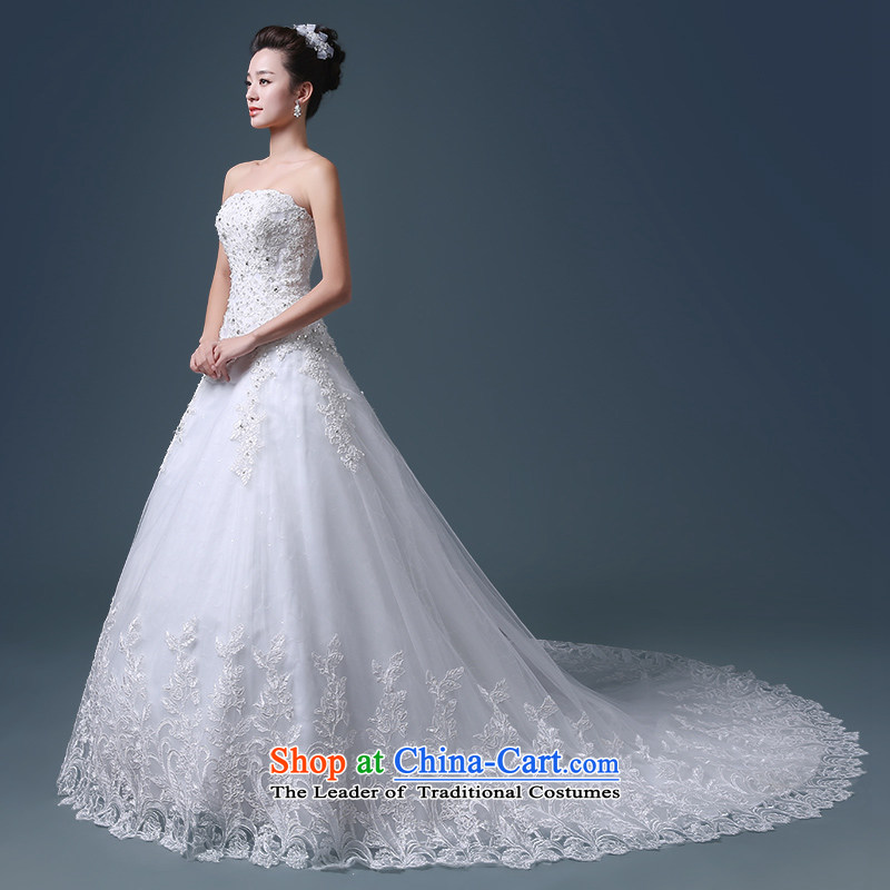 Noritsune bride anointed chest won long tail wedding dresses new spring and summer 2015 in custom video waist marriage thin wedding elections, wipe minimalist, chest as elegant white聽L