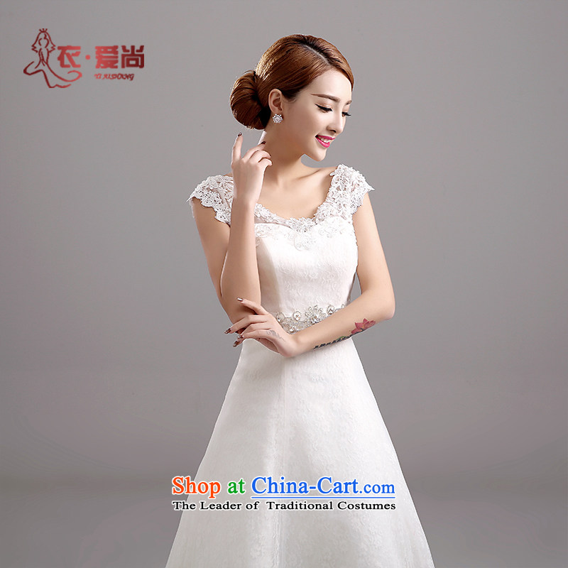 Love is stylish Korea Yi version shoulders to bind the bride elegant alignment with a spring skirt video thin wedding dresses new summer 2015 can be made of white plus $30 Does Not Return