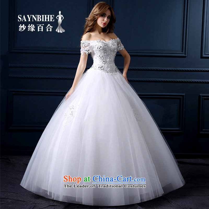 The leading edge of the Formosa lily wedding dresses during the summer of 2015, the new field shoulder stylish wedding packages to align the shoulder straps wedding video thin wedding Sau San marriages bon bon skirt white tailor Advanced Customization