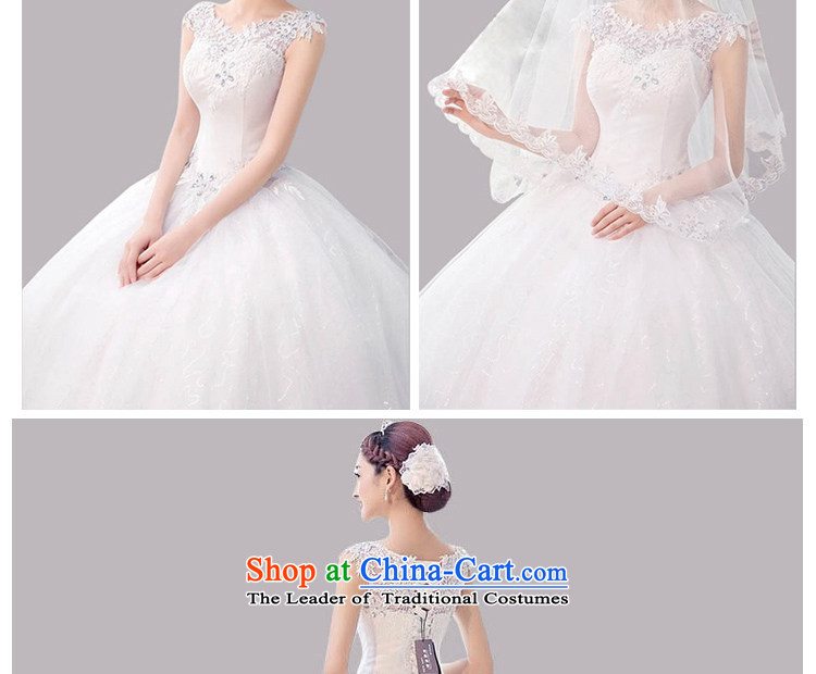 The new 2015 wedding dresses summer Korean minimalist large graphics thin bride to align the word shoulder shoulders wedding spring, white聽L picture, prices, brand platters! The elections are supplied in the national character of distribution, so action, buy now enjoy more preferential! As soon as possible.