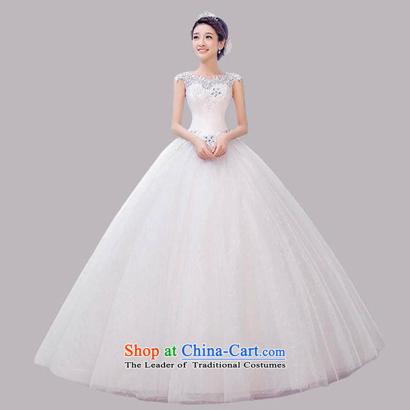 The new 2015 wedding dresses summer Korean minimalist large graphics thin bride to align the word shoulder shoulders wedding spring, white聽, L, pure love bamboo yarn , , , shopping on the Internet